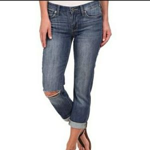 Lucky Brand Mollie Crop ripped knee jeans